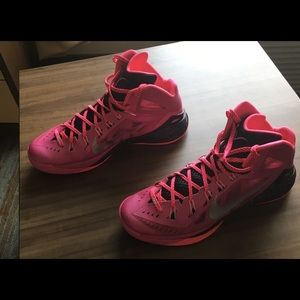 size 40 dd519 48e1b Nike Shoes - Nike Pink Ribbon breast cancer support Hyperdunks